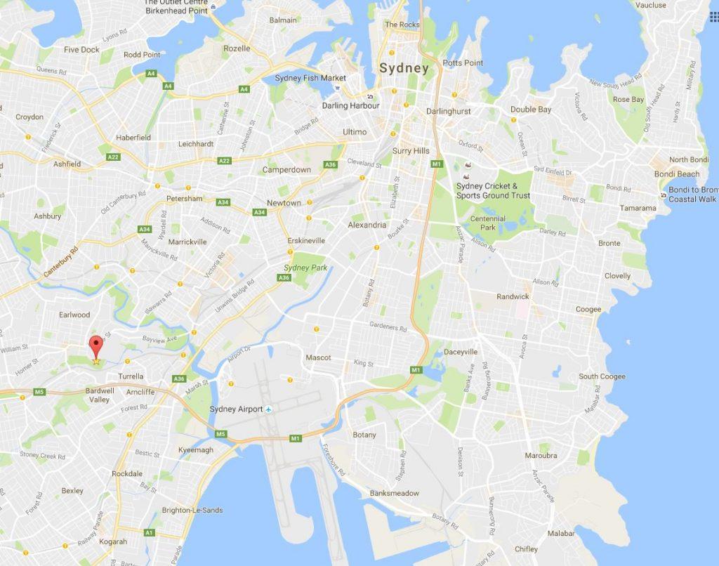 Dumb map of Earlwood Office