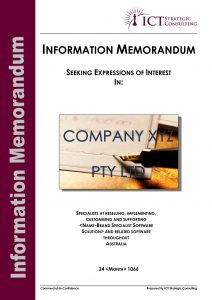 Information Memorandum template cover