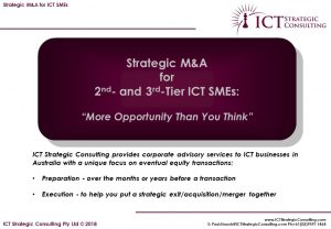 Brief: M&A for ICT SMEs